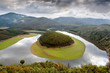 Beautiful scenery of a meander located in Spain