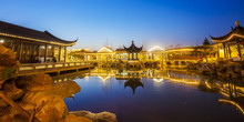 Night At Traditional Chinese Architecture
