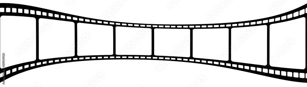 Fototapeta  pellicule film photos, fond blanc