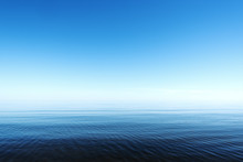 Calm Gulf Of Riga, Baltic Sea.