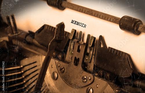 Vintage typewriter - Memoir Canvas Print