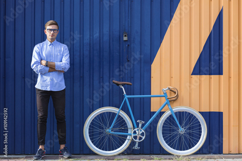 Fotografie, Obraz  A wannabe hipster would like this bike