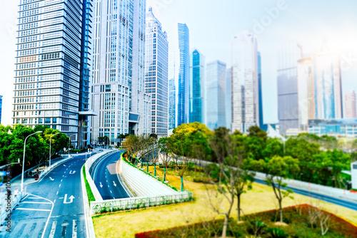 Poster Oceanië cityscape,shanghai