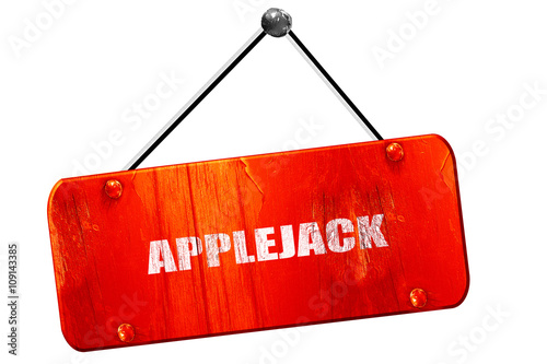 applejack, 3D rendering, vintage old red sign Poster