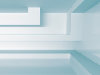 Naklejka White Interior Background. Abstract architecture concept