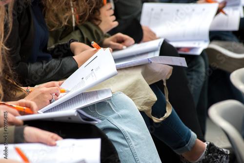 Cuadros en Lienzo  Students writing a test or exam