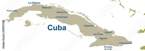 Map of Cuba @p(AS)ob