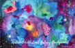 Watercolor abstract Galaxy background