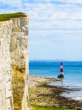 White Chalk Cliffs And Beachy ...