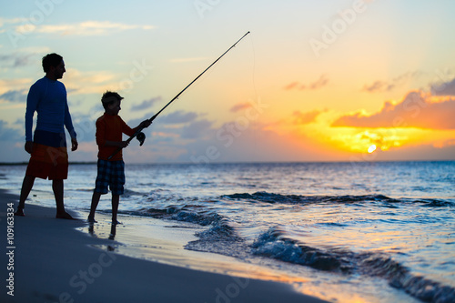 Acrylic Prints Fishing Family fishing
