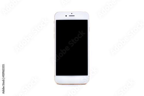 Cuadros en Lienzo  Smartphone Aislado Sobre Fondo Blanco