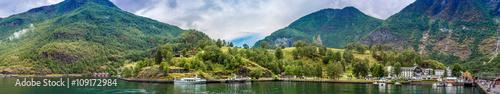 Papiers peints Scandinavie Country summer landscape, Norway