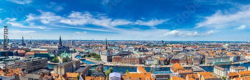 Copenhagen panorama Wallpaper Mural