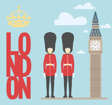 Queen's Guards / Vector Illust...