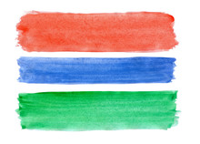 Flag Of Gambia Painted Watercolor