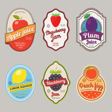 Retro Fruit Posters Or Vintage...