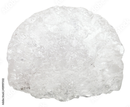 Photo Ammonium aluminium sulfate crystalline stone