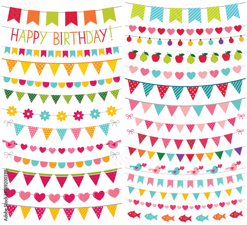 Fotografia  Colorful birthday and party decoration