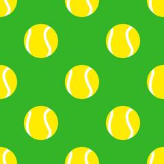 Panel Szklany Tenis Icono plano patrón con pelota de tenis #1