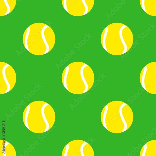 Icono plano patrón con pelota de tenis #1 - 109204548