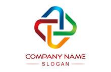 Colorful Square Line Logo