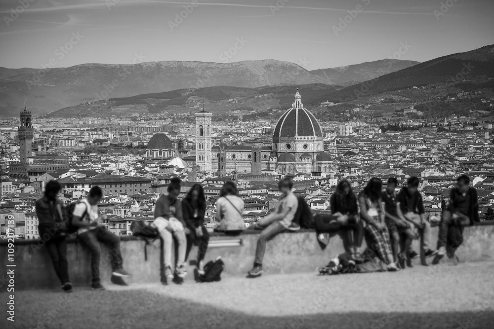Photo  Florence Panorama in Tuscany, Italy