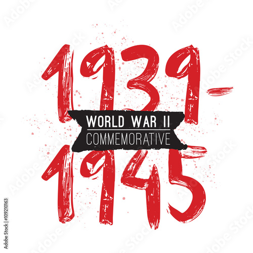 Poster  World war II commemorative day. Vector design.