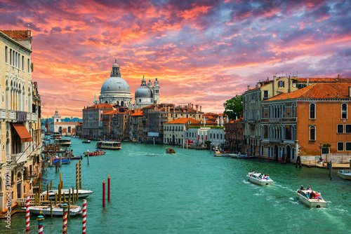Photo  Grand Canal and Basilica Santa Maria della Salute .Venice.Italy