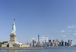 Statue of Liberty and Manhattan view, New York City, USA