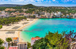 Panorama Beach of Santa Ponca Majorca Spain