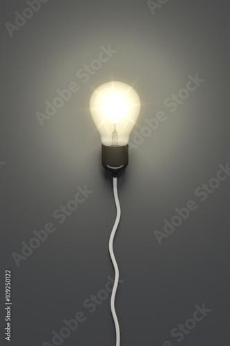 Fényképezés light bulb on a grey background