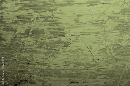 Valokuvatapetti Green grunge background with scratches