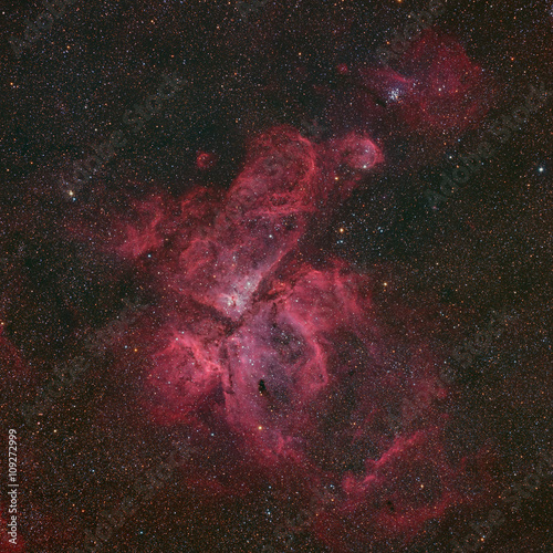 Eta Carinae Nebula a large emission nebula in the constellation Carina in the Southern sky taken with large CCD camera through low focal length telescope