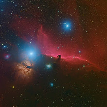 Horsehead Nebula Or Barnard 33 In The Constellation Orion Taken With CCD Camera Through Medium Focal Length Telescope