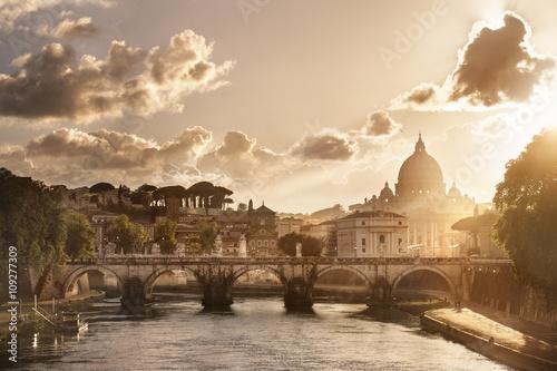 Spoed Foto op Canvas Rome Basilique Saint Pierre de Rome Vatican Italie