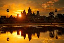 Reflection Of Ankor Wat At Daw...