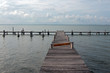 Abandoned dock in Cancun Mexico MEX
