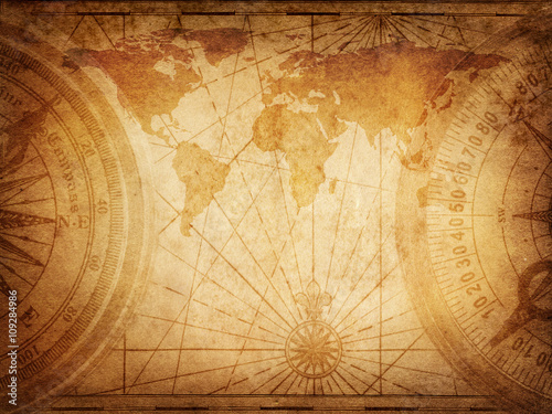 Recess Fitting World Map Old map of the world. Elements of this Image Furnished by NASA.