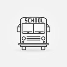 School Bus Vector Icon