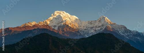 Wall Murals Nepal Annapurnas at sunrise panoramic view, Nepal