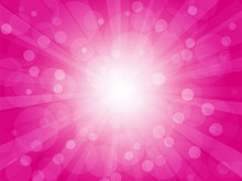 Brightly Pink Background With Rays
