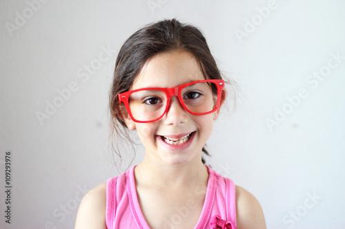 Foto op Aluminium Art Studio girl with glasses