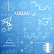 Elements for business presentation, timeline, templates, diagram