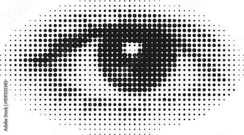 Leinwand Poster Half Tone Eye