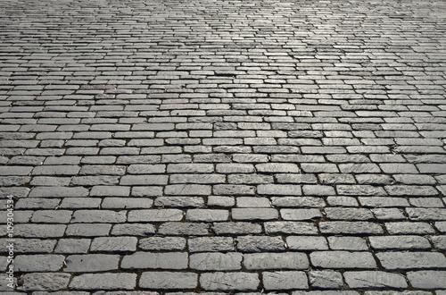 Old cobblestone pavement. Canvas Print