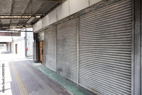 Fotografie, Obraz  社会 シャッター商店街 時代の流れ