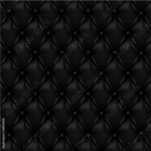 Deurstickers Leder Vector Leather background with buttons.