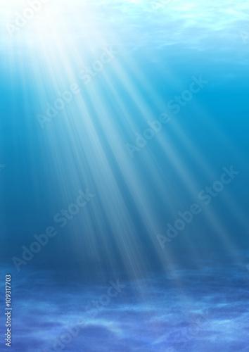 Fototapeta 光の差し込む浅い海 obraz