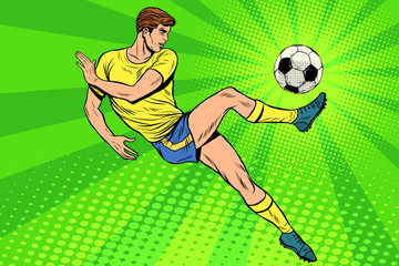 FototapetaFootball has a soccer ball summer sports games
