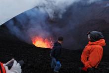 Tourists Watching Eruption Of ...